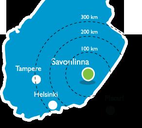 finland saimaa savonlinna map distances