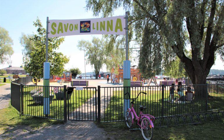 Детская площадка в центре Савонлинны