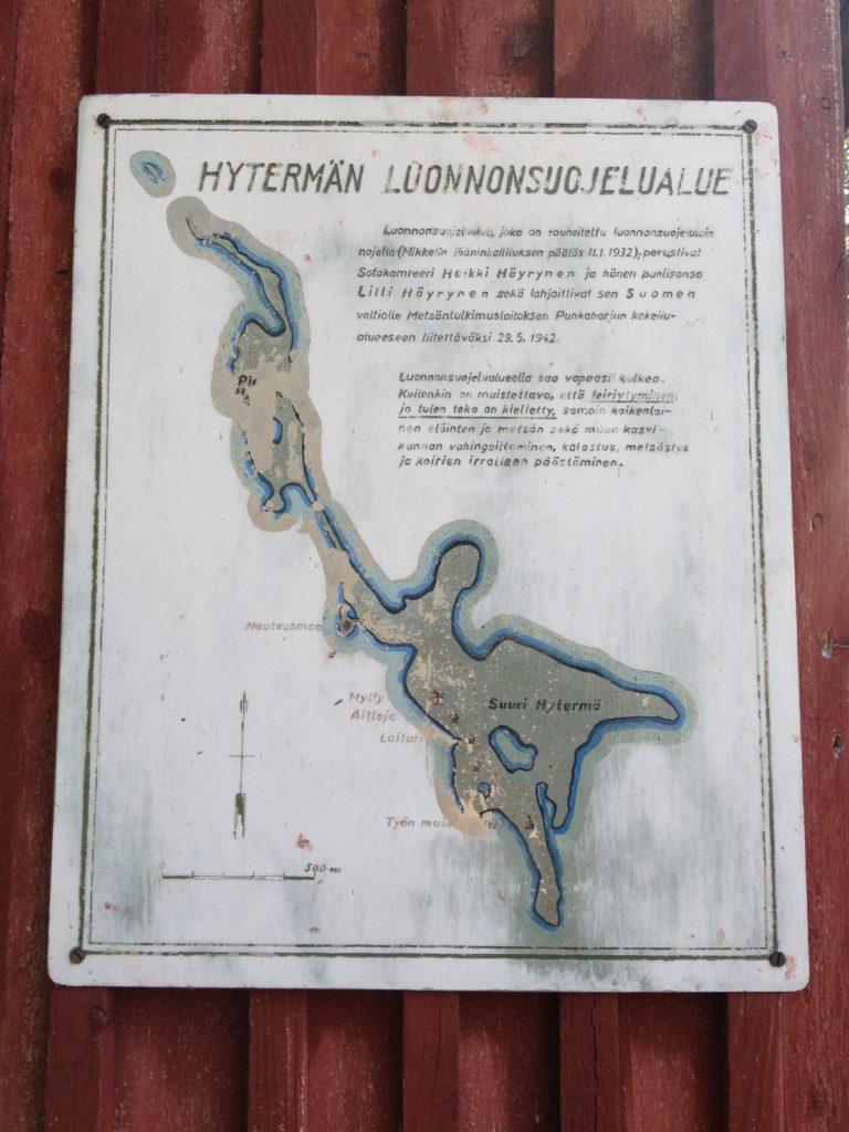 hytermä luonnonsuojelualue kartta määräys