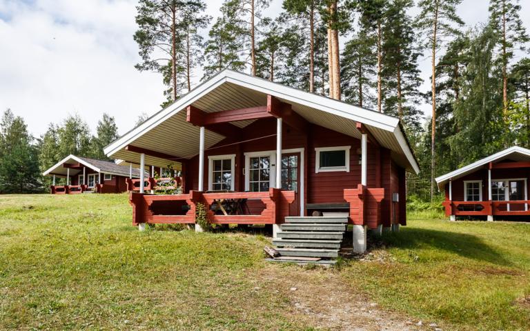 Hütte mit Sauna