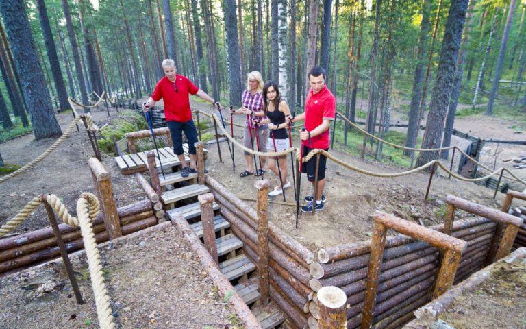 Kuikonniemen sotahistoria-alue – Salpalinjan linnoitus ja uimaranta