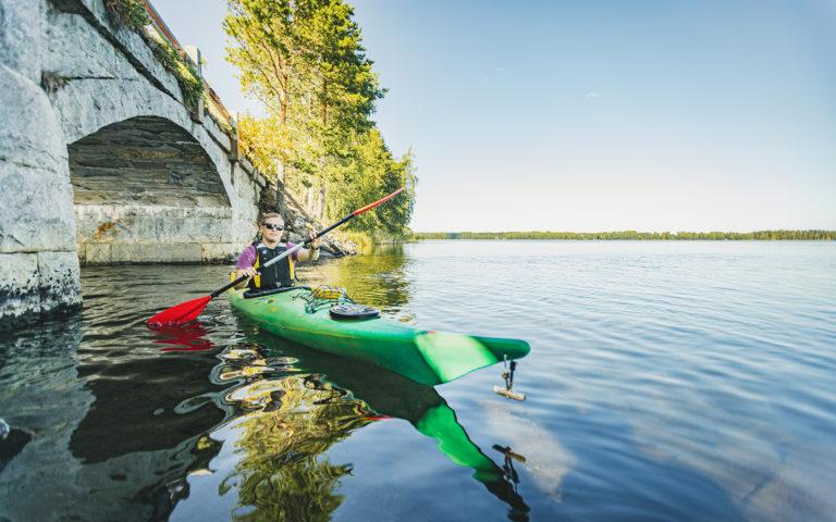 Kayaking trip to Punkaharju Nature Reserve